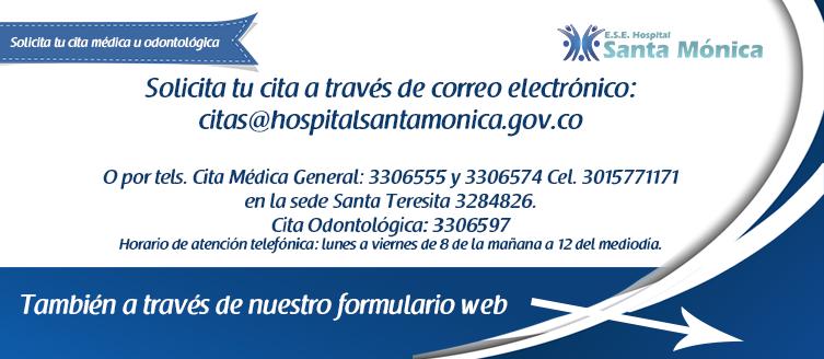 Slide web HSM Solicita tu cita medica